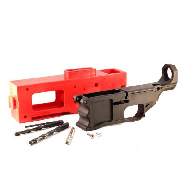 Polymer80 Polymer80 Warrhogg 80% Lower Receiver Full Kit LR-308 Polymer - Black