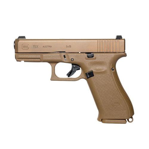 """Glock Glock 19X Gen5 9MM 4"""" Glock Night Sights FDE"""