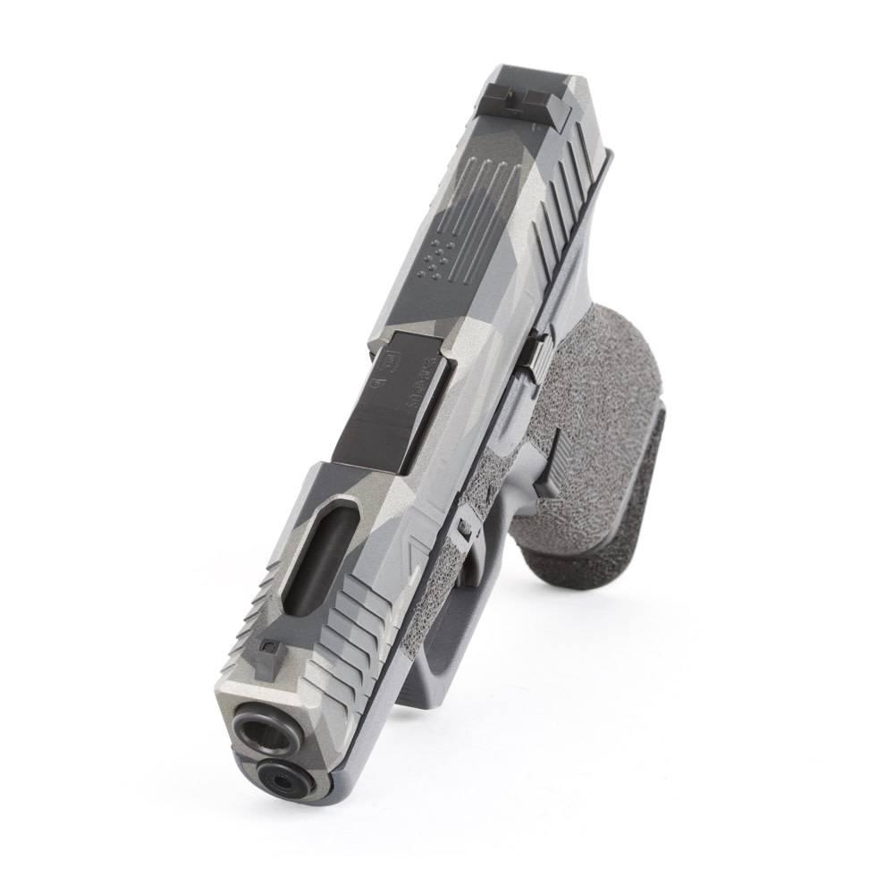 Agency Arms Agency Arms Glock 43 Gray Frame Hybrid Blowndeadline Custom Cerakote Pattern