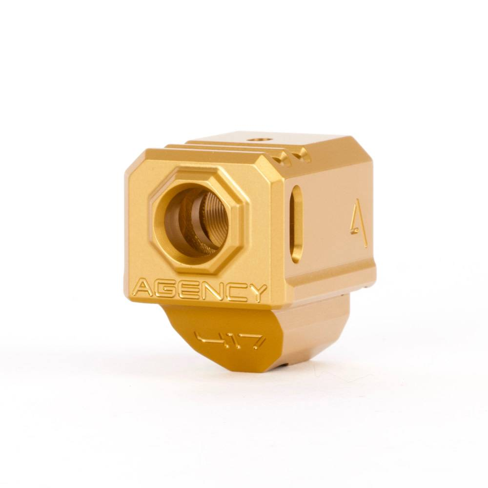 Agency Arms Agency Arms 417 Glock Gen4 Compensator - Gold