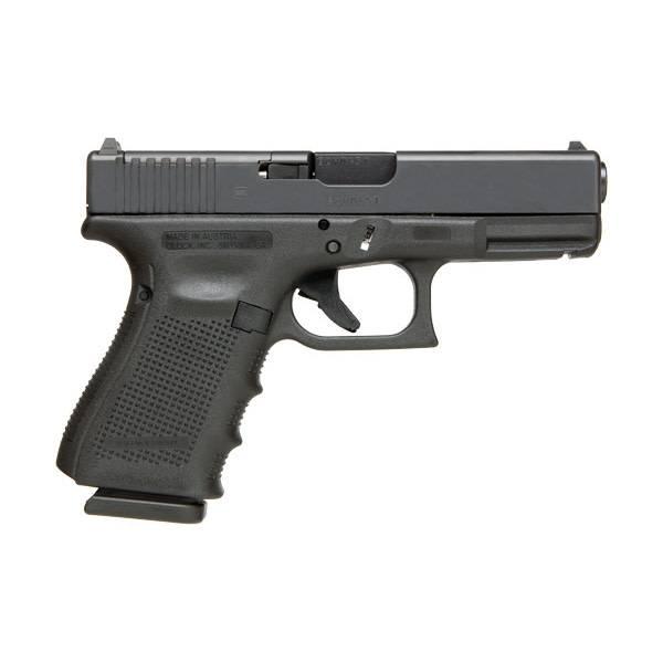 "Glock Glock 19 Gen4 MOS 9MM 4"" Fixed Sights Black (Blue Label)"