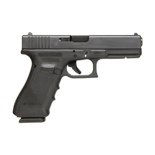 """Glock Glock 17 Gen4 9MM 4.48"""" Fixed Sights Black (Blue Label)"""