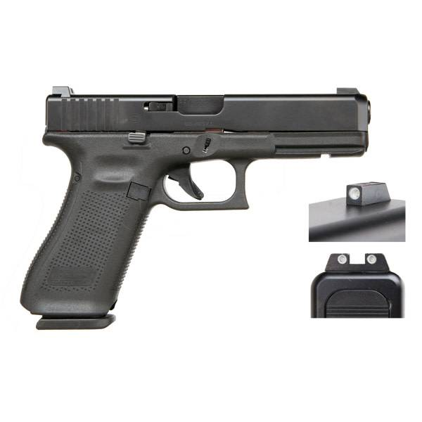 "Glock Glock 17 Gen5 9MM 4.48"" Night Sights Black (Blue Label)"