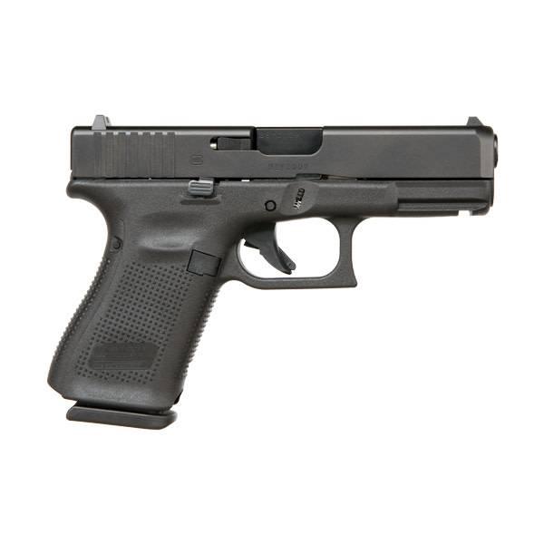 """Glock Glock 19 Gen5 9MM 4"""" Fixed Sights Black (Blue Label)"""