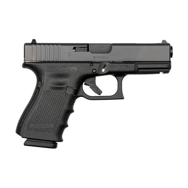 "Glock Glock 19C Gen4 9MM 4.0"" 15Rd Fixed Sights Black (Blue Label)"
