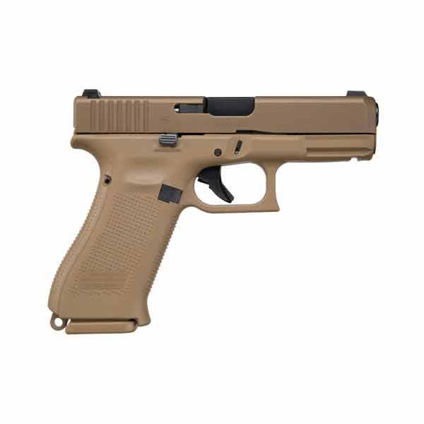 "Glock Glock 19X Gen5 9MM 4"" Glock Night Sights FDE (Blue Label)"