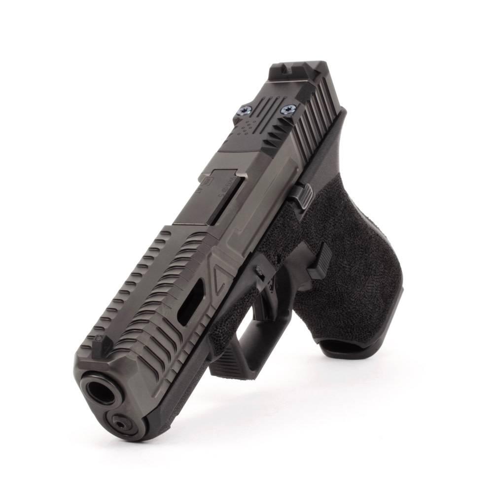 Agency Arms Agency Arms G19 Gen5 Bonesaw DLC w/ Standard Stipple, Black Agency Trigger