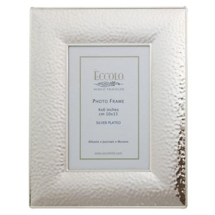 Silverplate Frame Hammered 4x6