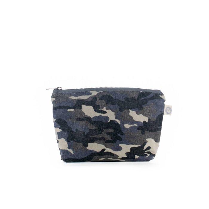 Grey Camo Makeup Bag
