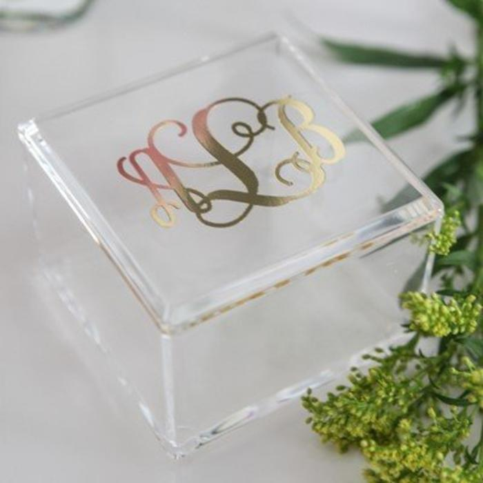 Personalized Square  Box
