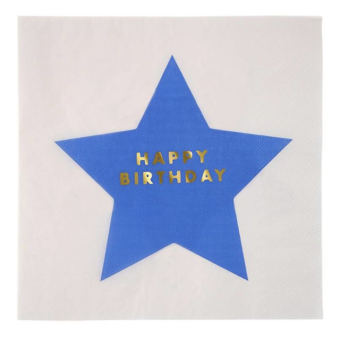 Stars Happy Birthday Large Napkin