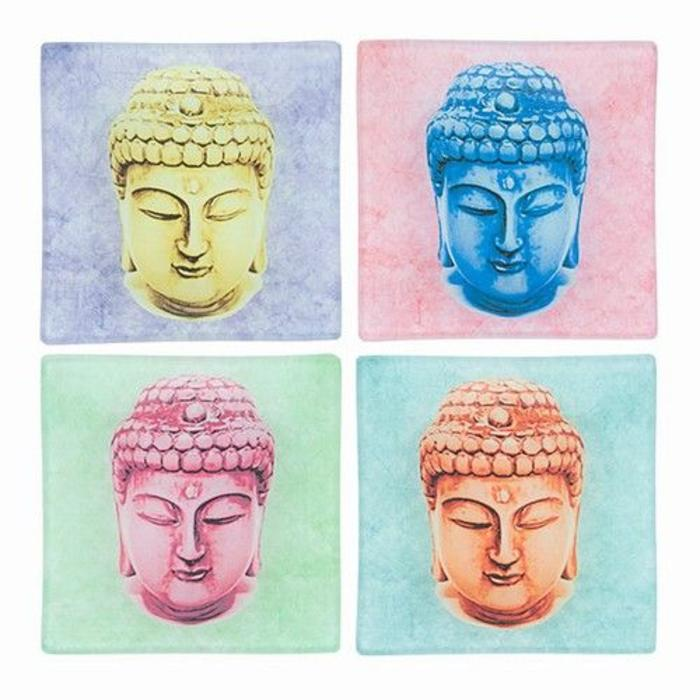 Colorful Buddha Face Tray