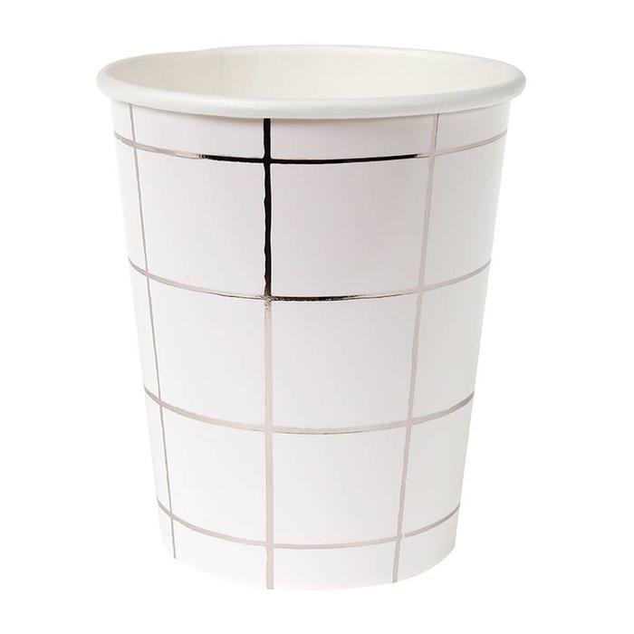 SILVER GRID PARTY CUP