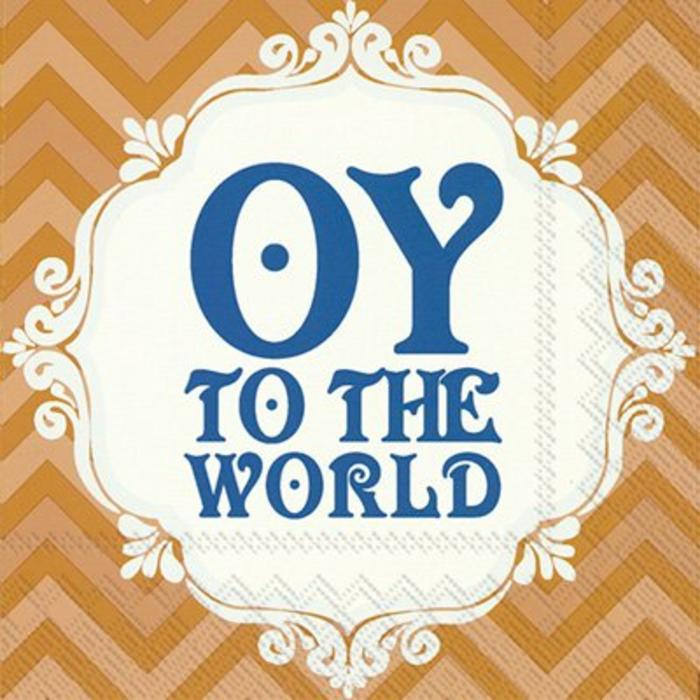 Oy to the World Cocktail Napkins