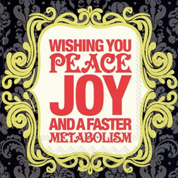 Peace, Joy Cocktail Napkin