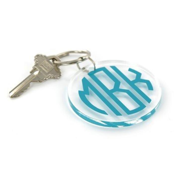Personalized Round Acrylic Keyring