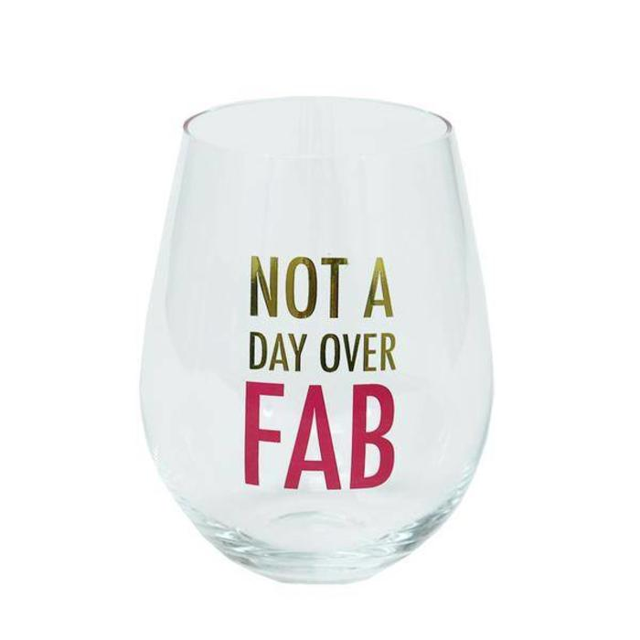 Glass Stemless Wine Fabulous