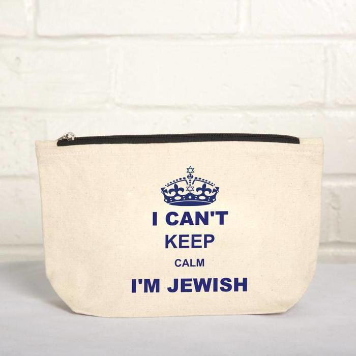 """I Can't Keep Calm, I'm Jewish"" 10 x 6 Pouch"