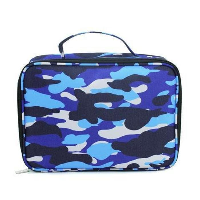 Lunch Tote Camo Blue
