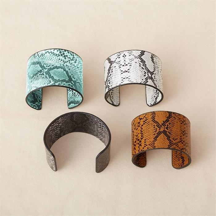 Vegan Python Cuff Bracelet