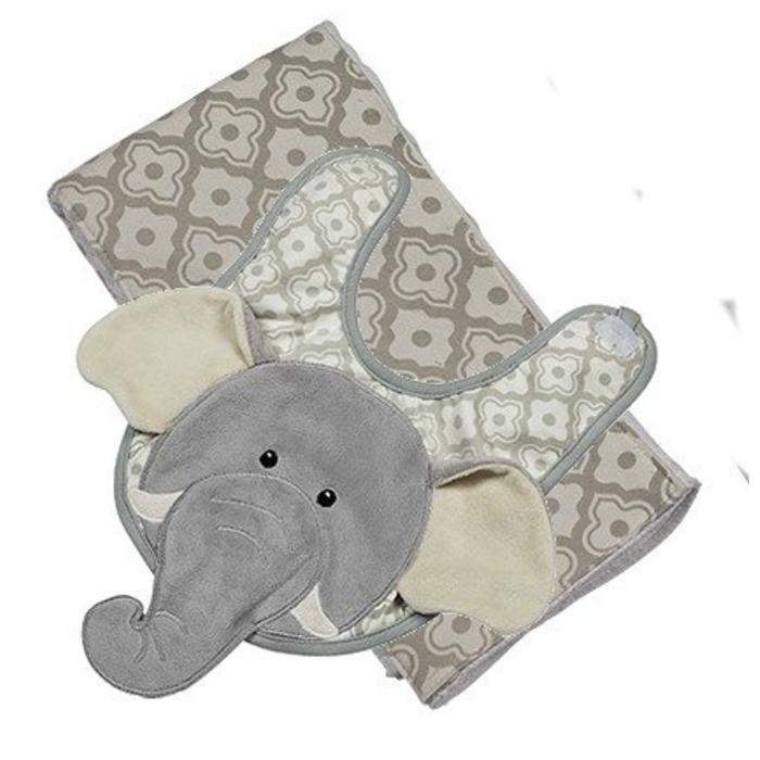 Emerson the Elephant Boxed Bib & Burp Gift Set