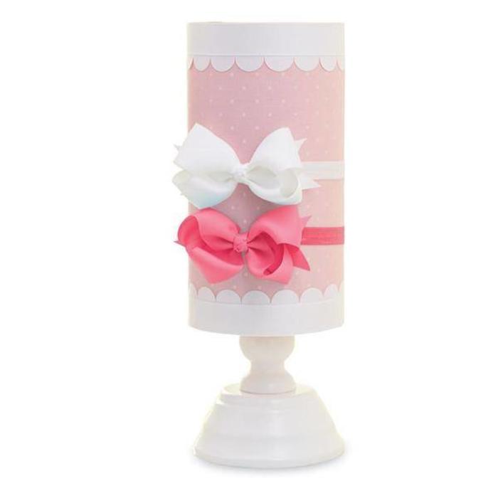 Pink Linen Headband Holder