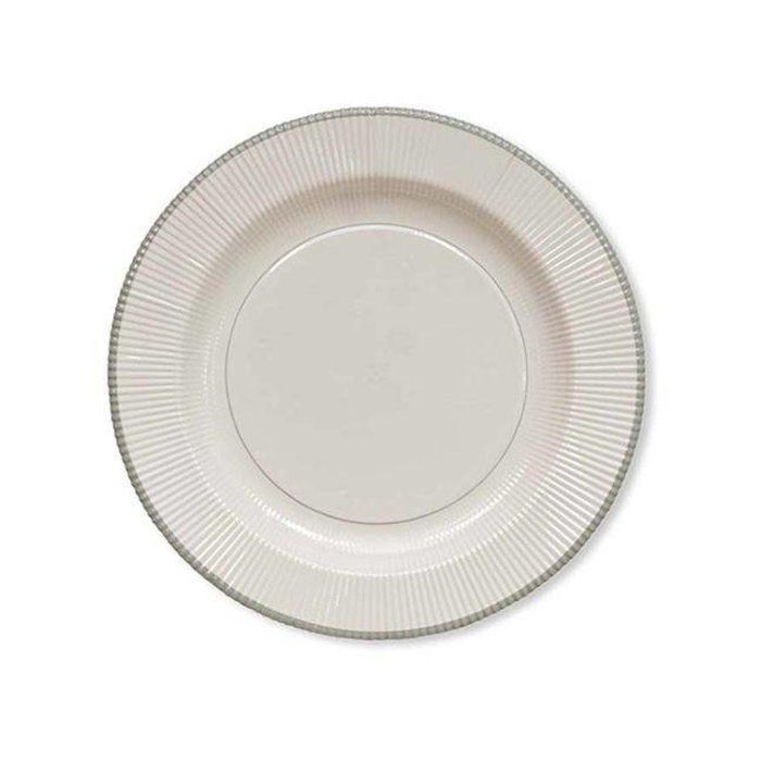 Classic Silver Righe Dinner Plates