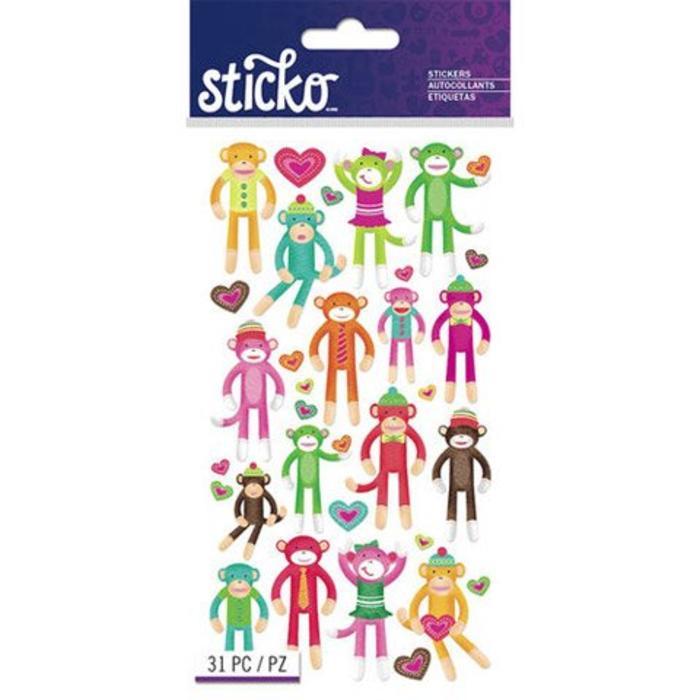 Monkey Sticko Stickers