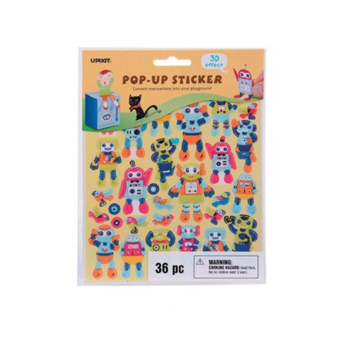 Robot Pop Up Stickers