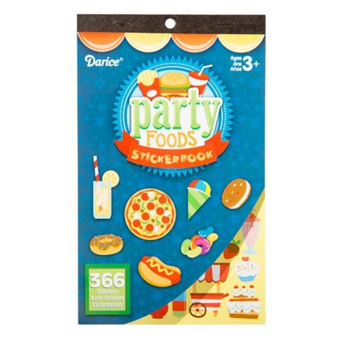 Party Foods Sticker Book