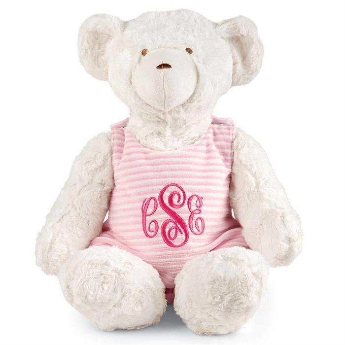 Monogrammed Bear- Pink
