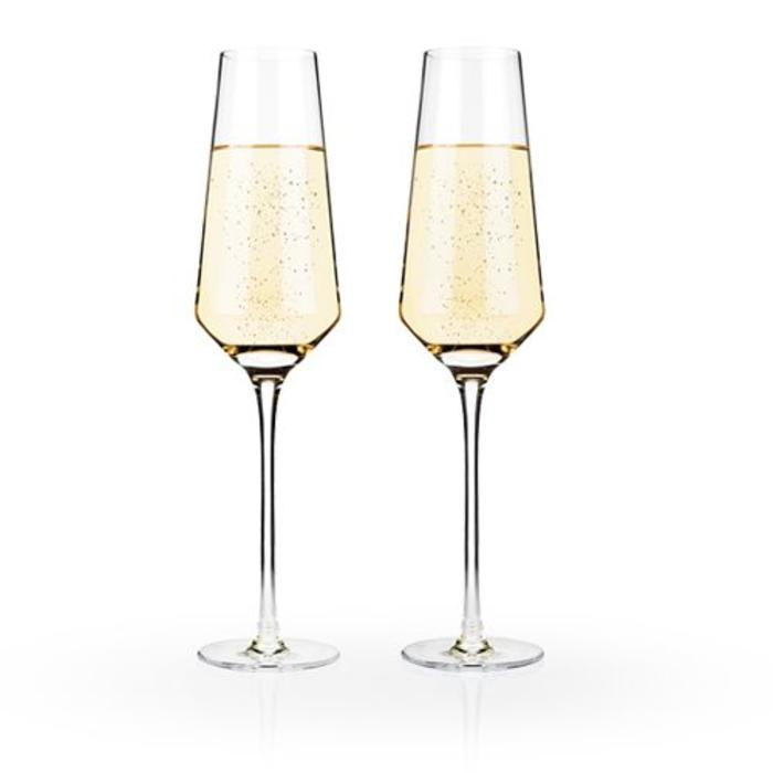 Raye Crystal Champagne Flutes (set of two)