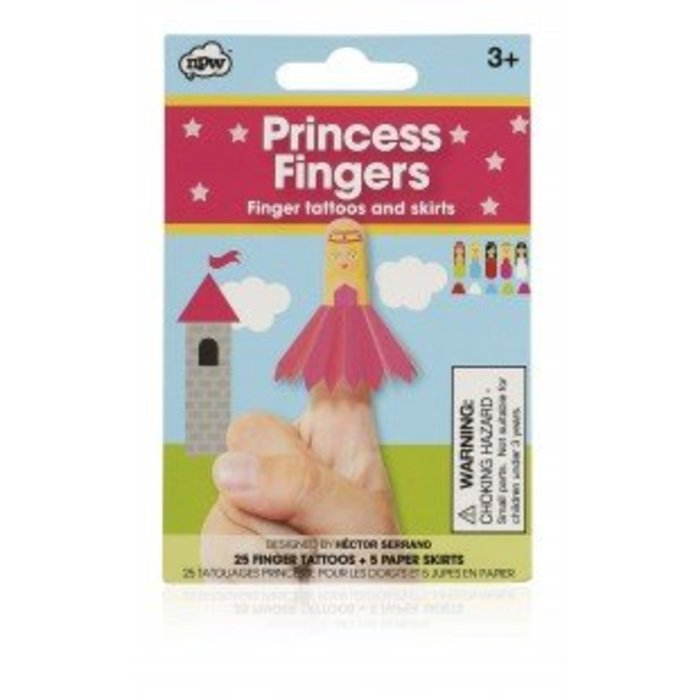Princess Finger Puppet Tattoos