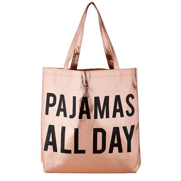 Pajamas All Day Rose Gold Tote