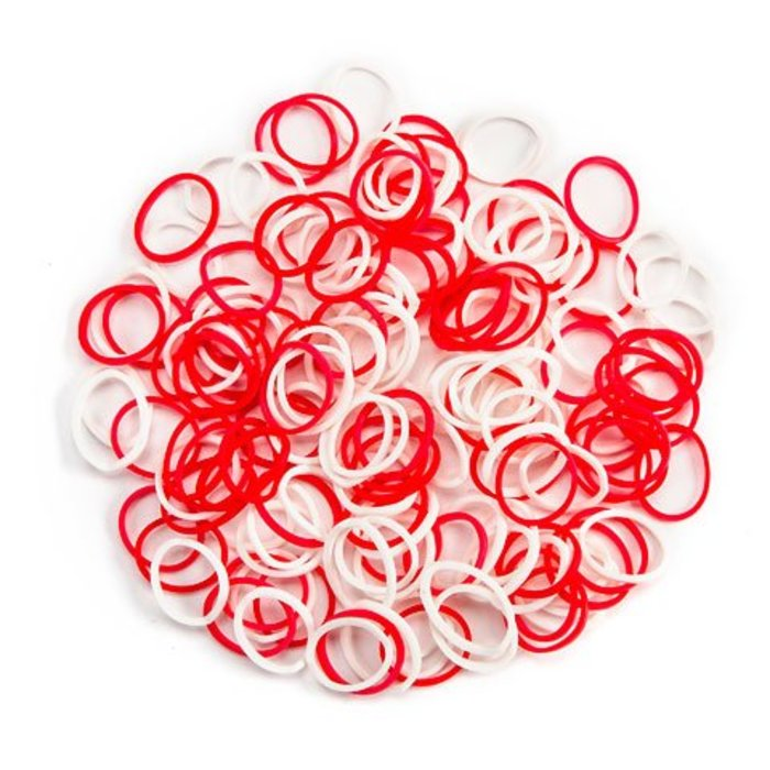 Red & White Loom Bands