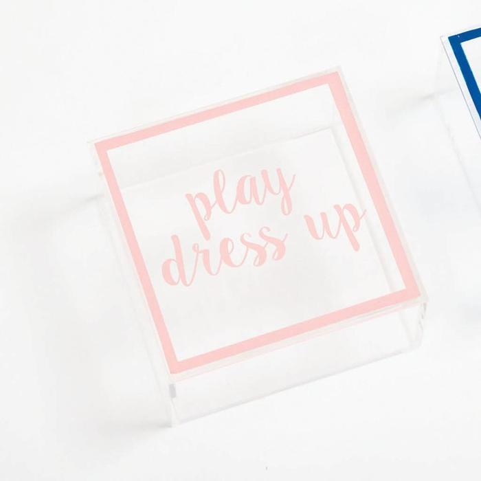 """Play Dress Up Acrylic Box"