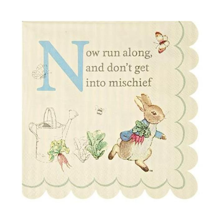 Peter Rabbit Small  Napkin
