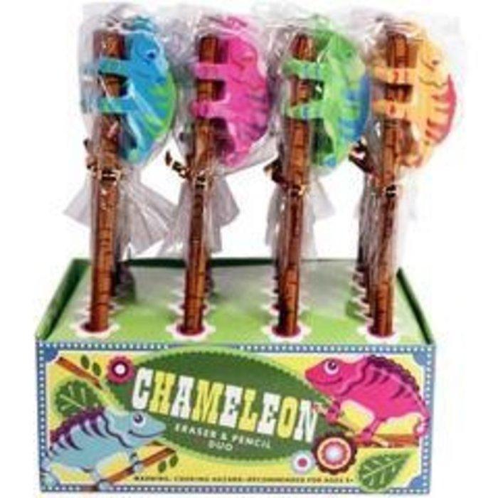 Chameleon Eraser & Pencil Set