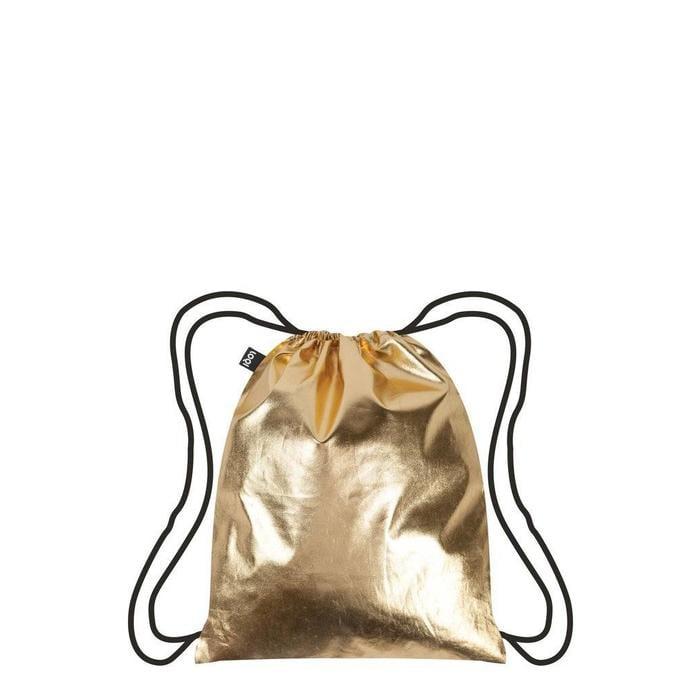 Metallic Gold Drawstring Backpack