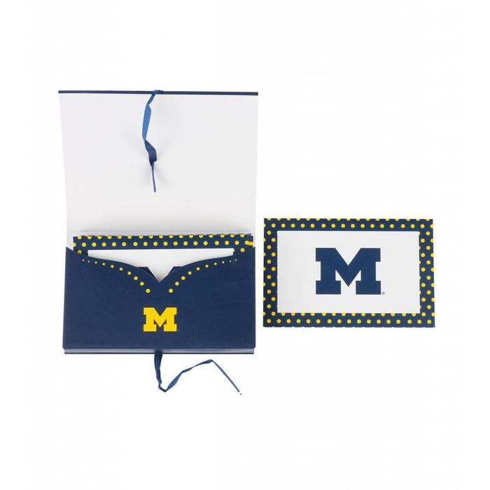 University Of Michigan NCAA Note Card Set