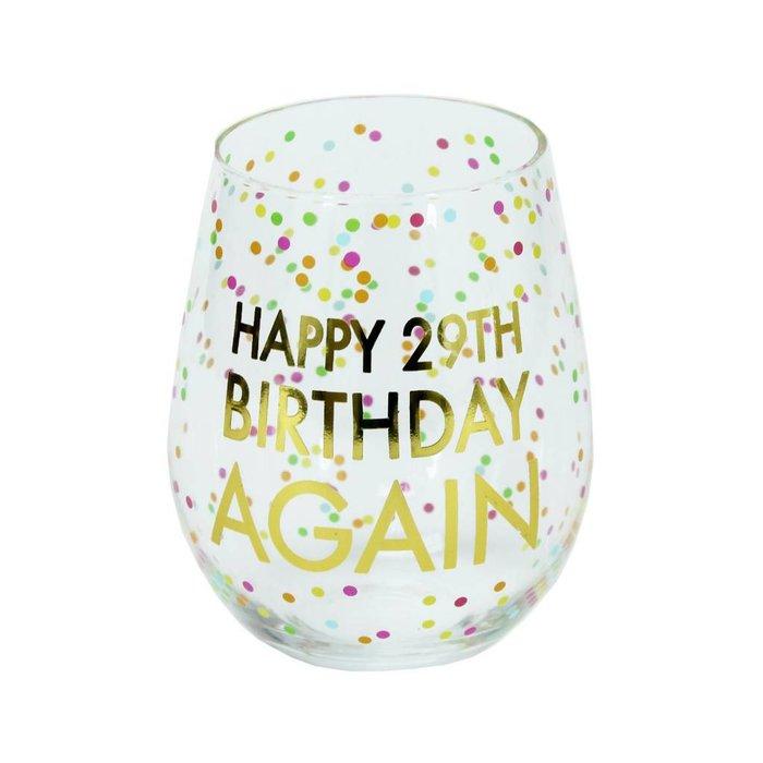 Glass Stemless Wine 29th Birthday