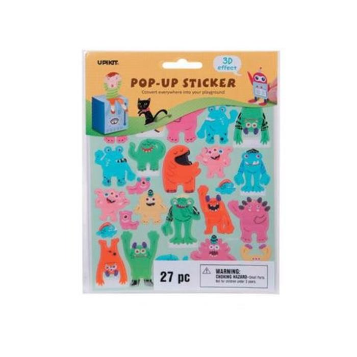 Monsters Pop Up Stickers