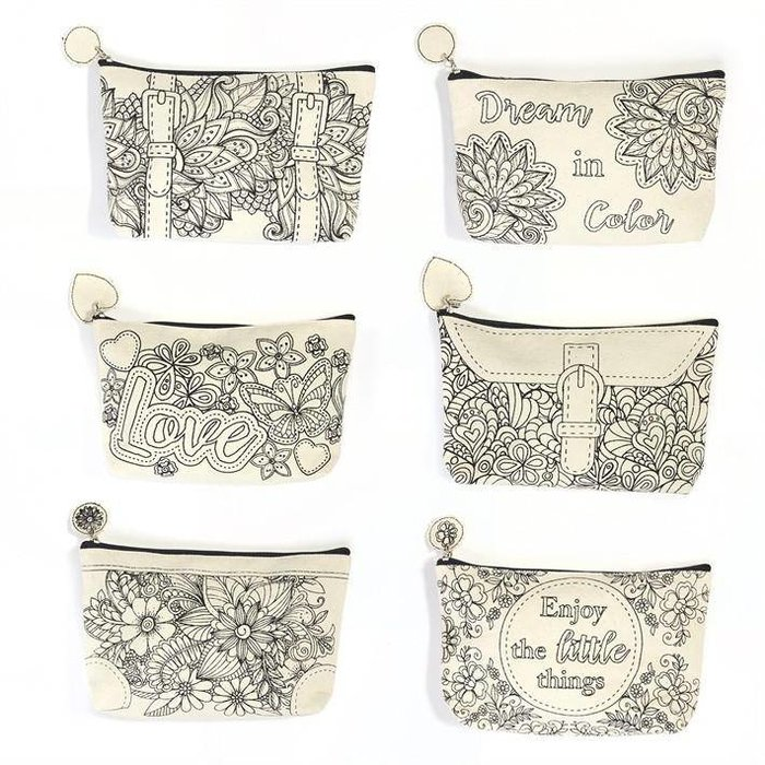 Color This Cosmetic Pouch
