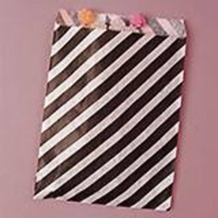 Black Diagonal Striped Bags