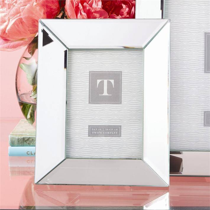 Two\'s Company Reflections 5 x 7 Beveled Mirrored Frame - Gumdrop ...