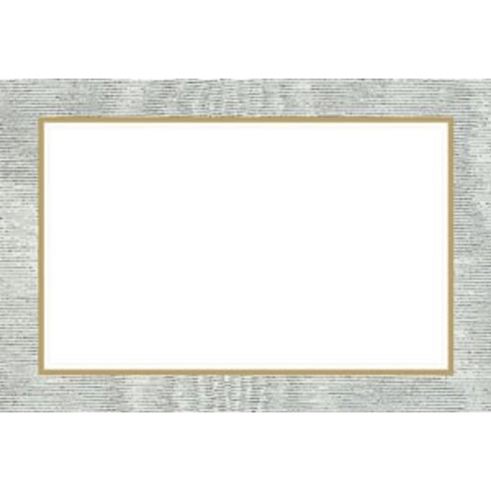 MOIRE SILVER PLACECARDS 10 IN PACKET