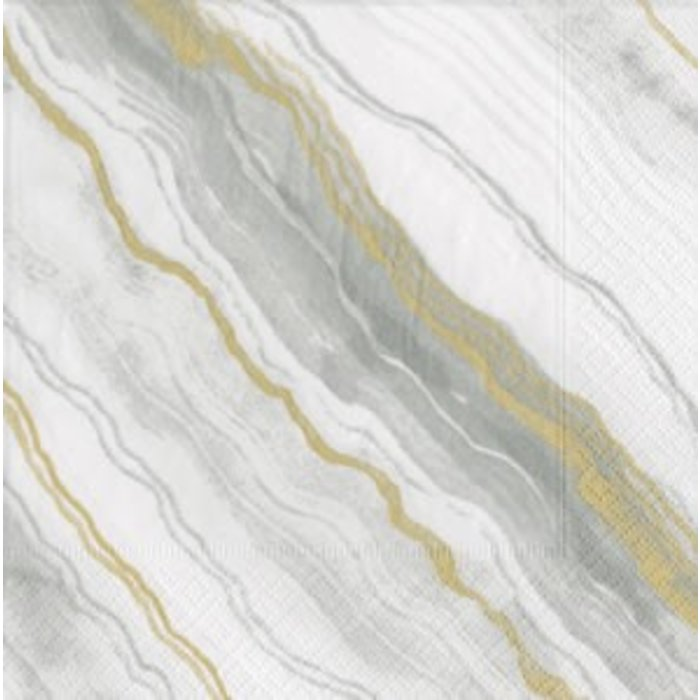 Marble Grey Luncheon Napkin