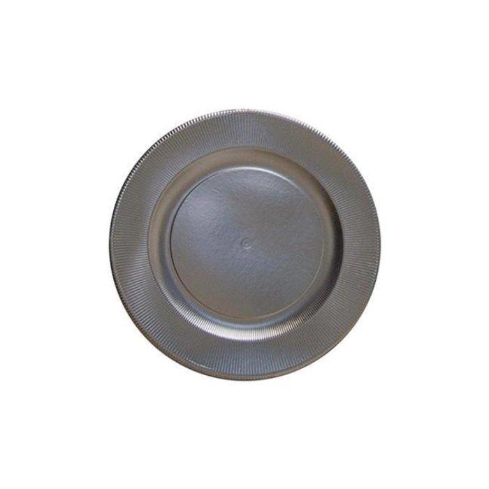 Classic Righe Dessert/ Salad Plate, Satin Silver