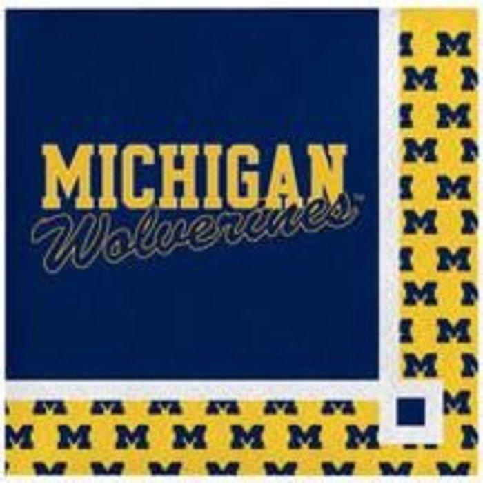 NCAA Beverage  Napkins Michigan