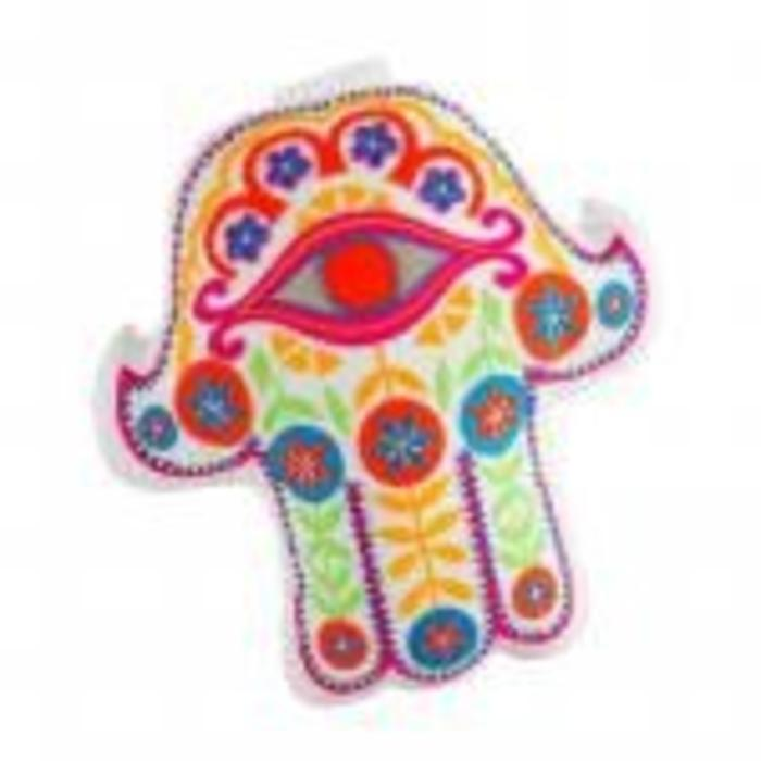 Hamsa Pillow- White